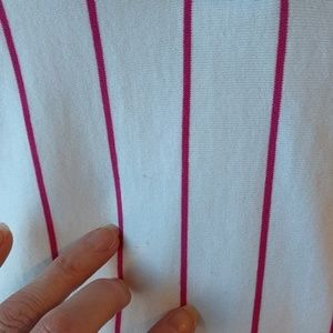 Boast Tops - Boast Pink Pinstriped Polo