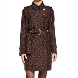 Marc jacobs leopard print trench coat