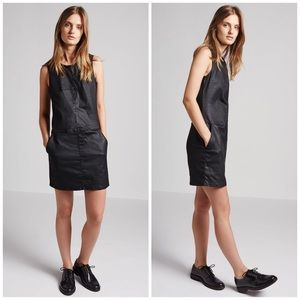 Current/Elliott Black Coated The Shift Dress