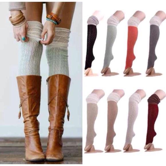 f7802557b  7❤️New Olive Knee High Socks w Fold Over Trim