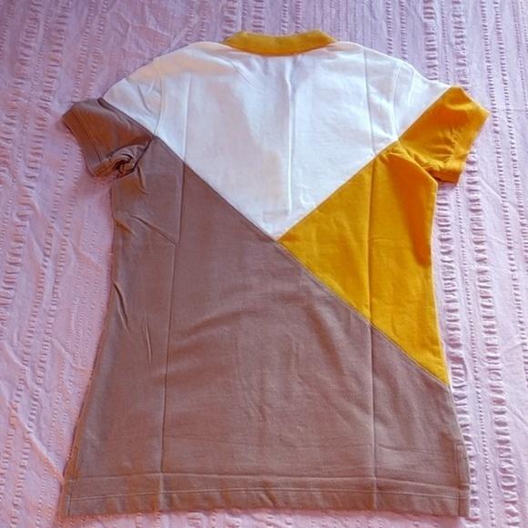 Boast Tops - Colorblock Boast Yellow, White & Coffee Polo
