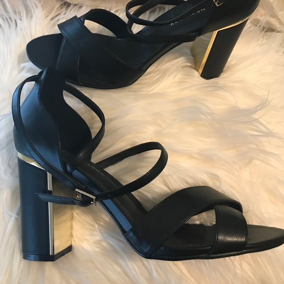 a26b15975df New Look Wide Fit Black Gold Detail Heels. M 59da67b09818293fb609e134.  Other Shoes ...