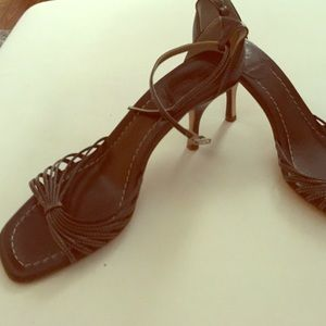 J.Crew chocolate brown ankle strap sandal