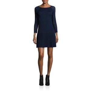 Shoshanna lisette dress navy size S