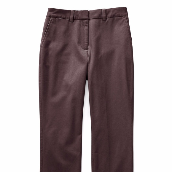 Womens Mid Rise Straight Leg Chino Trousers - 14/16 - BLUE Lands End CCntN8