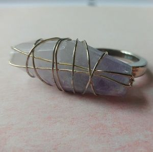 Two-Finger Stone Ring