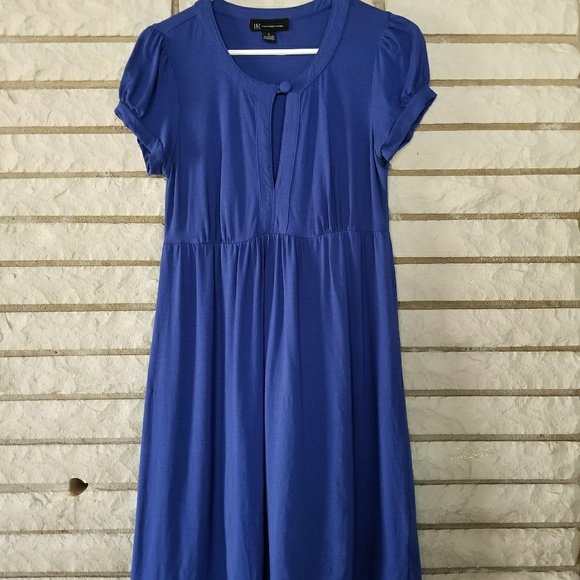 INC International Concepts Dresses & Skirts - INC blue dress small with button detail