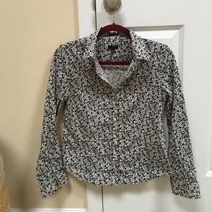 Tops - Talbots stretch floral button-down shirt