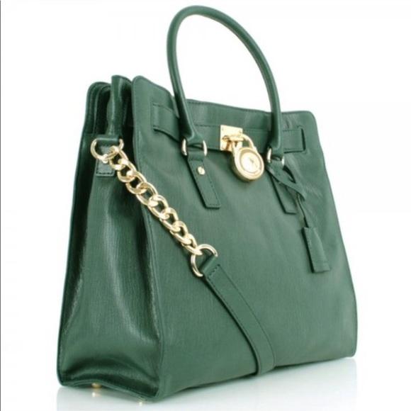 0421aa2fc293 Michael Kors Bags | Large Dark Green Hamilton Bag | Poshmark
