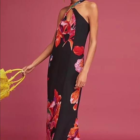 37b452178908 NWT Maeve Cayman Silk Maxi Dress Anthropologie XL