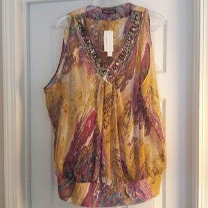 Adrienne Vittadini sheer blouse