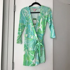 Lilly Pulitzer Karlie Wrap Romper — new with tags