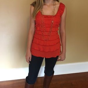 Cute Orange Top--Perfect for Gameday