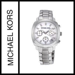 Michael Kors Silver Mother of Pearl Watch MK5029