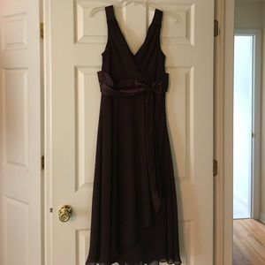 Beautiful V-Neck Tea Length Dress