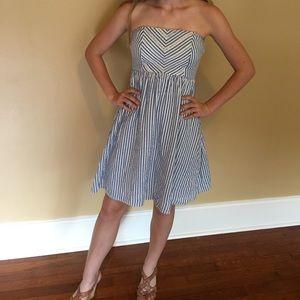 NWT Cute Strapless Seersucker Dress