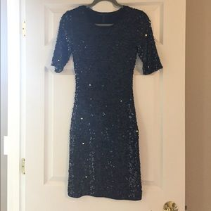 BCBG black sequin dress