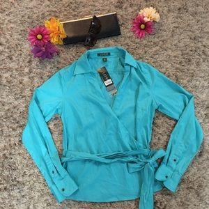 Lauren Ralph Lauren Turquoise Top