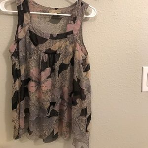 Sheer flowy party top