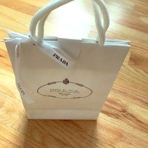 Authentic Prada gift bag and Prada ribbon