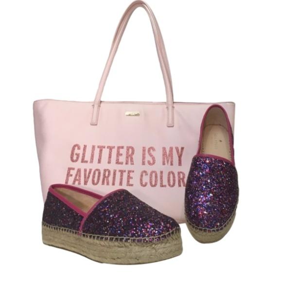 kate spade Shoes - 🆕 KATE SPADE glitter espadrilles linds too
