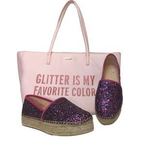 🆕 KATE SPADE glitter espadrilles linds too