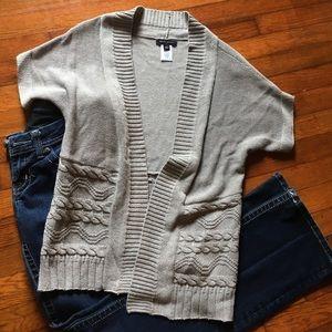 Cute Short Sleeved Slouchy Cardigan