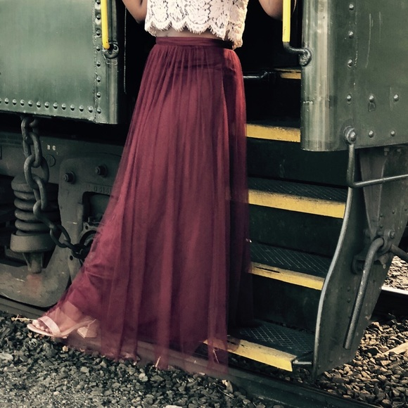 70170e800 Jenny Yoo Dresses & Skirts - Jenny Yoo Louise Tulle Skirt - Cabernet