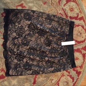 Trina Turk lace black skirt size 0