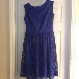 London Times Royal Blue lace dress