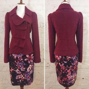 CLASSIQUES ENTIER Raspberry Boucle Sweater Blazer