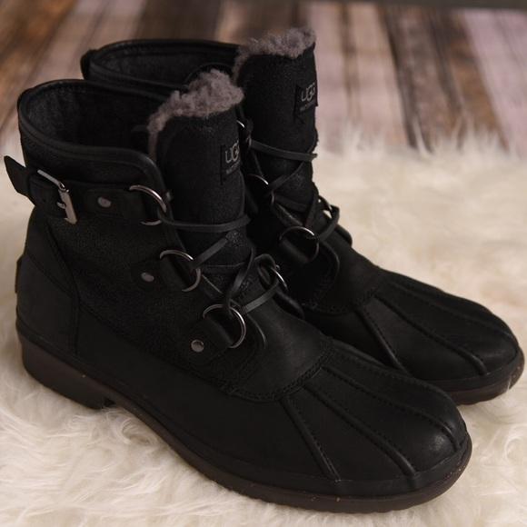3677cd8b7bb Cecile UGG waterproof boot. UGG black boot sz 8