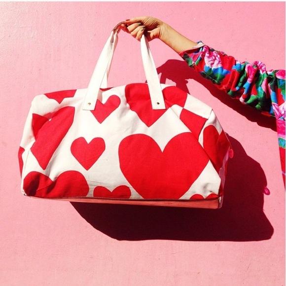 670c2f02074 ban.do Bags   Bando Heart The Getaway Canvas Duffle Bag   Poshmark