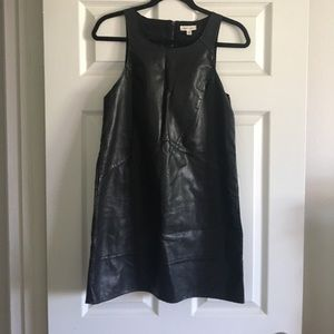 Silence + Noise Faux Leather Dress