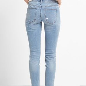 GAP Jeans - Gap paint splatter true skinny ankle jeans