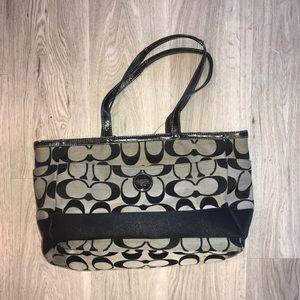 Authentic Coach Black baby bag / travel bag