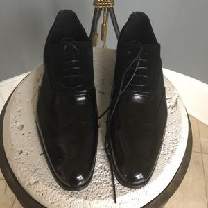 Stacey Adams Leather  Wing Tip Shoes. NWOT
