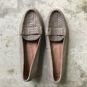 Joie Embossed Python Leather Loafers, NWOT
