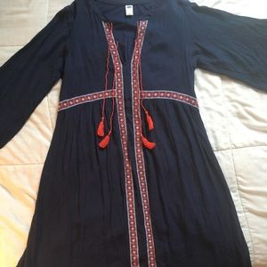 Women's Navy and Red Coverup Dress