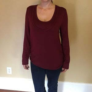 Size XL Burgundy Nursing Shirt