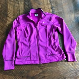 NIKE // Purple Therma Fit Collared Zip Up