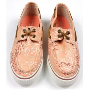NEW 5.5 Sperry Top Sider Orange Canvas Shoes