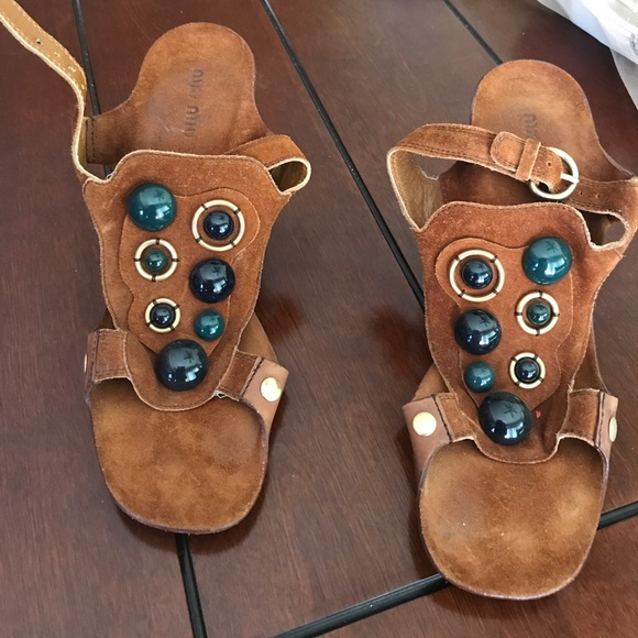 Mui Mui sandals  Paid $975 brown Normal wear