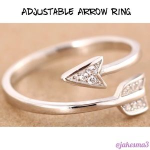 Jewelry - 💠ADJUSTABLE SILVER PLATED ARROW RING💠