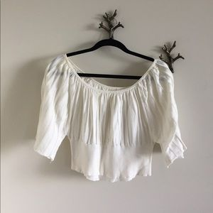 White Anthropologie Cropped Top