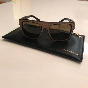 Authentic balenciaga sunglasses with case
