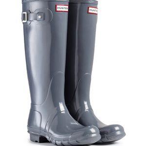 Original Hunter Rain Boots - Gray/Glossy