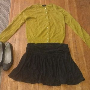 J. Crew Collection Olive Cashmere Cardigan