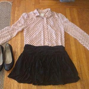 J. Crew Black Sullivan Skirt
