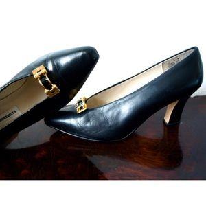 Vintage GLORIA VANDERBILT black leather shoes 8.5